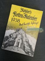"Kalender - ""Köhler`s Flotten-Kalender"" 1938"