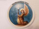 """Porzellan - Weihnachtsteller 1936 """"Lichtbote"""""""