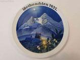 """Porzellan - Weihnachtsteller 1937 """"Weihnachten in Berchtesgaden"""""""