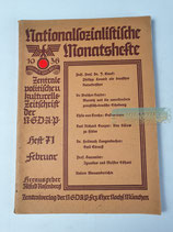 Nationalsozialistische Monatshefte - 1936 Heft 71