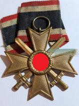 VERKAUFT!!! Kriegsverdienstkreuz mit Schwerter 2. Klasse mit Bandabschnitt