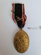 Kyffhäuserbund - Medaille 1914/18 mit Band und Auflage