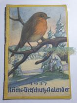 """Kalender - """"Reichstierschutzkalender"""" 1937"""