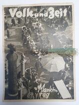 """Zeitung - Volk und Zeit """"Markttag"""""""