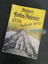 "Kalender - ""Köhler`s Flotten-Kalender"" 1938 (2)"