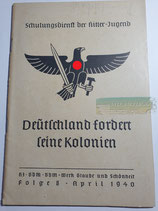 Heft - Schulungsdienst der HJ Folge 8 April 1940