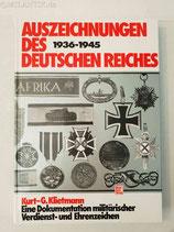 Fachbuch - Auszeichnungen des deutschen Reiches (Klietmann)