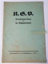 Heft - NSV Dienstanweisung