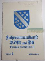 Heft - Führerinnendienst BDM und JM Folge 2 April 1940 (2)