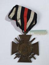 Ehrenkreuz für Frontkämpfer - T.H.W. mit Bandabschnitt (2)