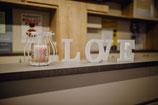 """""""love"""" Buchstaben Weiß"""