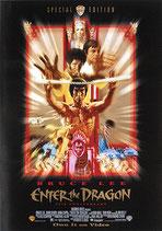 燃えよドラゴン(英語表記・ビデオ版・背景黒色/ビデオ販促用ポスター)
