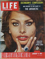 LIFE/INTERNATIONAL EDITION(ライフ・1961年1月9日号/表紙・ソフィア・ローレン)