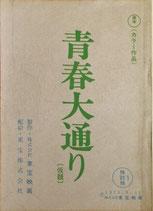 青春大通り(仮題・検討稿(1)映画台本)
