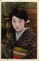 歌川八重子(ブロマイド/郵便はがき/2枚)