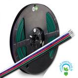 RGB+W Kabel, 5-polig, Farbkennzeichnung, 5x0,5mm², 1 Bund = 10m