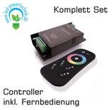 LED Controller, RF RGB + White Remote, 12-24V DC, 15 A, 360W , IP 20 inkl. Fernbedienung