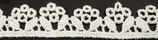 Guipure coton ivoire, H 1,8 cm