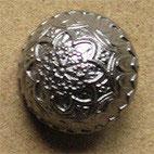 Bouton métal vieil argent, demi-boule 18 mm