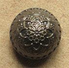 Bouton métal vieux bronze, demi-boule 15 mm