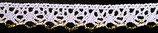 Guipure coton blanc et fil lurex, H 1,2 cm