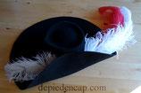 Chapeau en feutre Noir XVIIe - Formé en goutte