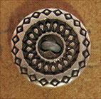 Bouton métal argenté rosace 10 mm
