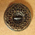Bouton métal vieux bronze satiné, plat 15 mm