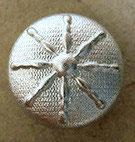 Bouton métal argenté clair satiné, bombé 13 mm