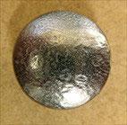 Bouton métal gris martelé, 15 mm