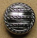 Bouton métal argenté vernis, bombé 23 mm