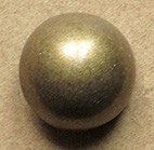 Bouton métal vieux bronze, demi-boule 22 mm