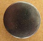 Bouton métal léger bombé gris foncé 15 mm