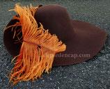 Chapeau en feutre Brun chaud XVIIe - Bombé