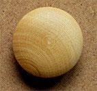 Bouton bois buis, bombé 18 mm