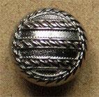 Bouton métal argenté vernis, bombé 15 mm
