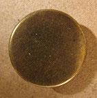 Bouton plat, métal bronze 17 mm