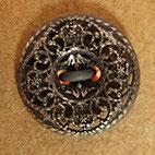 Bouton métal argenté, plat 13 mm