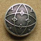 Bouton métal argenté, bombé 19 mm