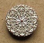 Bouton métal cuivré blanchit, plat 19 mm