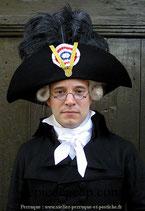Chapeau en feutre fin XVIIIe - Magistrat sous la Révolution Française