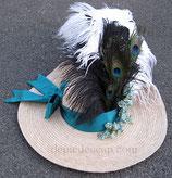 Chapeau-Bergère 2ème moitié du XVIIIe Ruban turquoise
