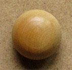 Bouton bois buis, demi-boule 14 mm