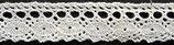 Dentelle coton blanc, H 1,7 cm