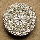 Bouton métal cuivré blanchit, plat 23 mm