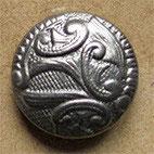 Bouton métal vieil argent 22 mm