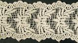 Dentelle coton ivoire, H 5,7 cm