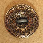 Bouton métal doré satiné, plat 10 mm