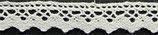 Dentelle coton blanc, H 1,8 cm