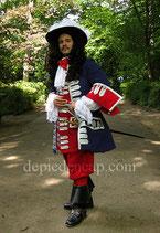 Justaucorps 1700 - Gardes Françaises de la Maison du Roy